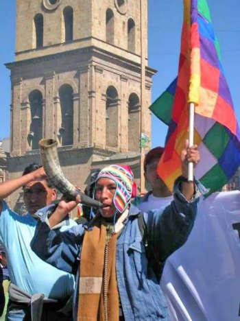 bolivia manifestante