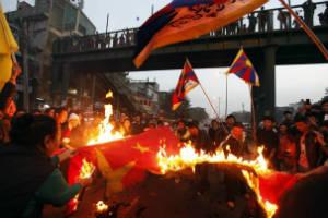 tibet bandiera cina