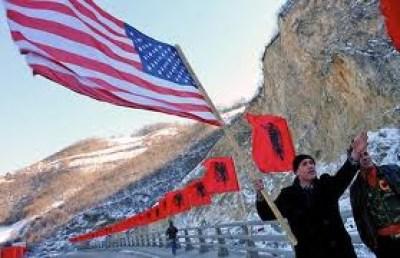 kosovo usa bandiera
