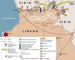 siria-libano-cartina