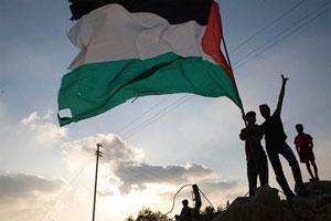 palestina bandiera ragazzi