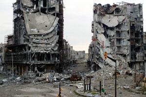 siria edificio bombardamento