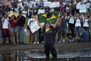 brasile ragazzo bandiera