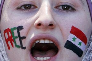 donna siria urlo