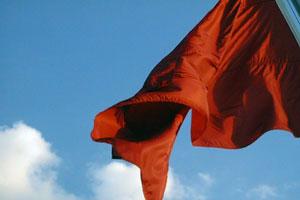 red-flag sky