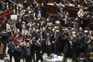 bagarre parlamento