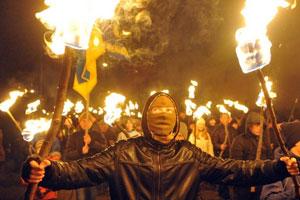 kiev fiaccolata fascisti