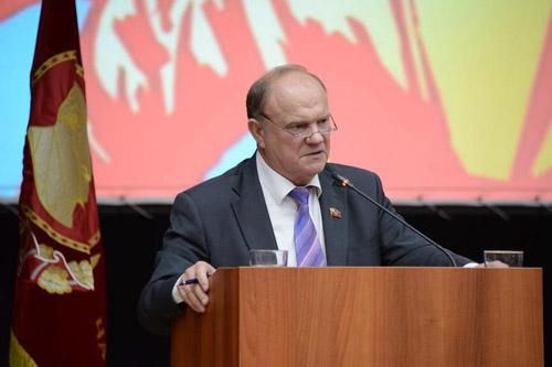 zyuganov podio