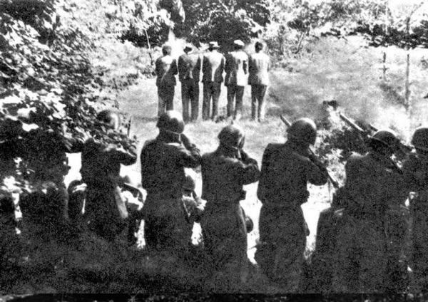 fucilazione a Dane 31 luglio 1942