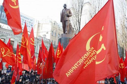 UkraineCommunistPartyflags