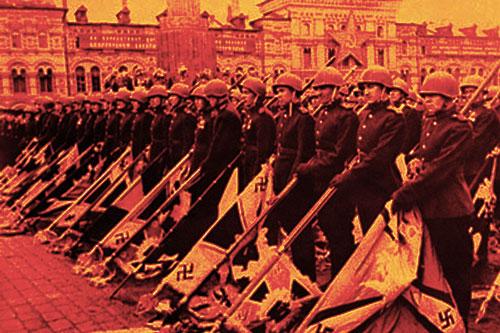 bandiere naziste piazzarossa