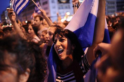 grecia donna bandiera