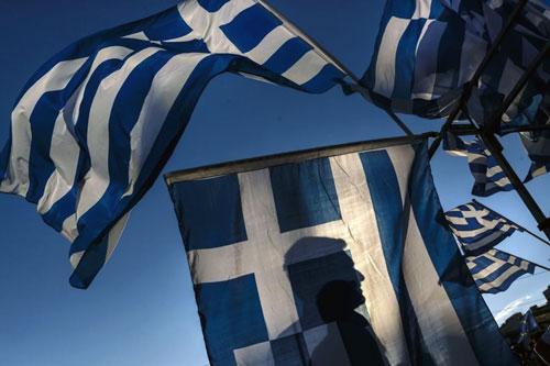 grecia bandiere silhouette