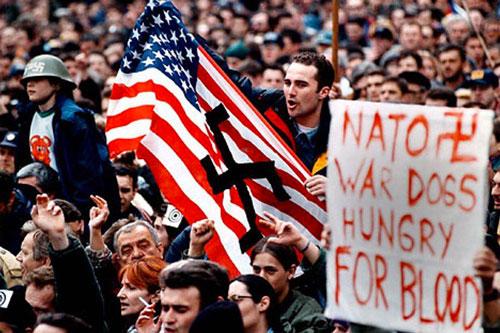 yugoslav protest
