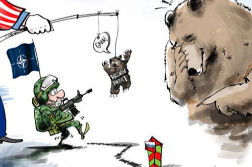 minaccia russa vignetta