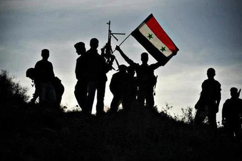 siria esercito silhouette