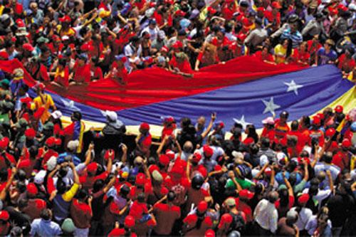 venezuela bandiera folla