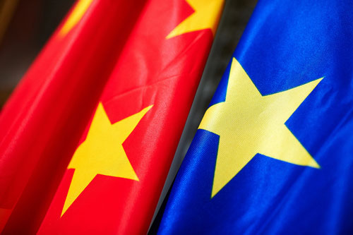 china eu flag mix