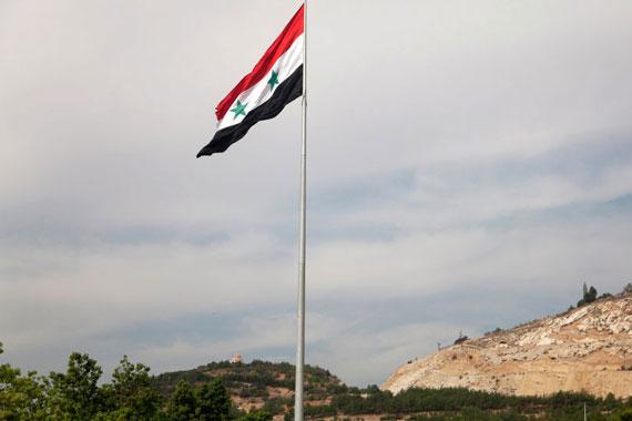 siria bandiera cielo