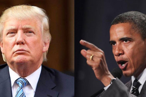 Donald Trump vs Barack Hussein Obama