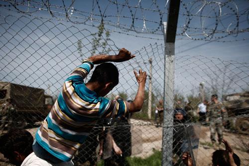 rifugiati recinzione