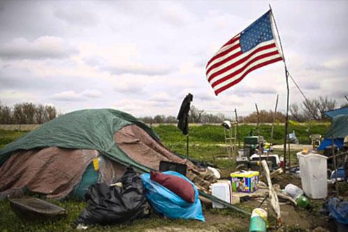 usa senzatetto bandiera