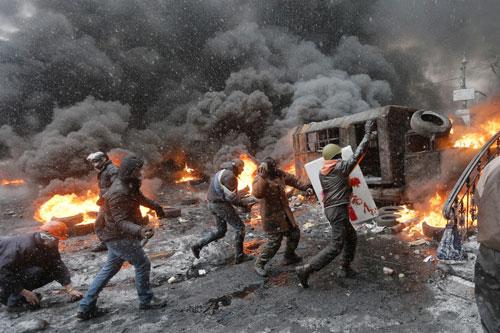 ucraina guerriglia cenere