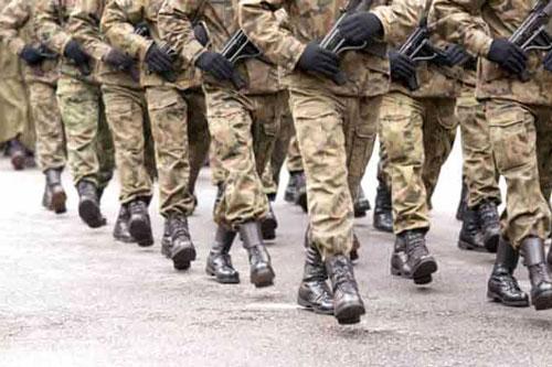 esercito gambe