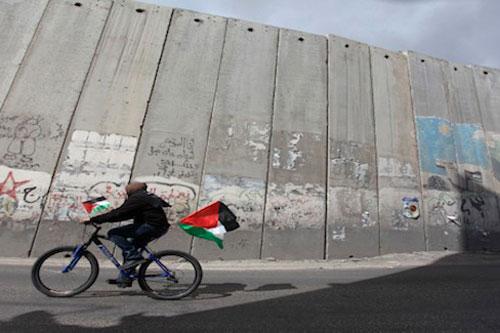 gaza muro biciletta