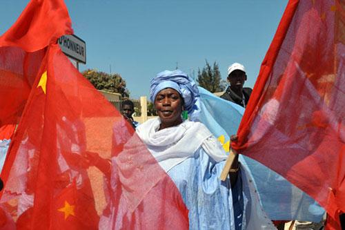 cina africa bandiere