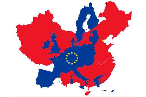 europa cina mappa