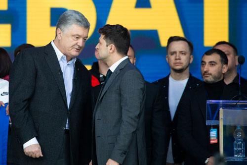 Poroshenko and Vladimir Zelensky