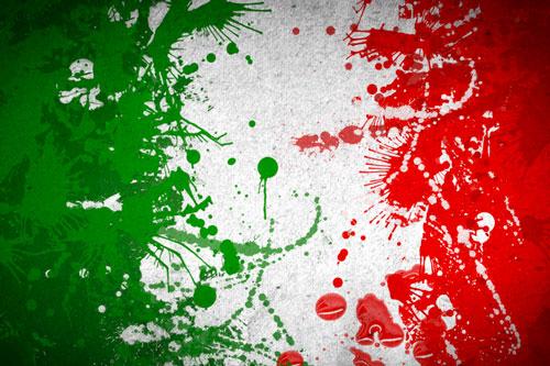 italia schizzi colore