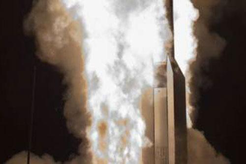 missile lancio fumo