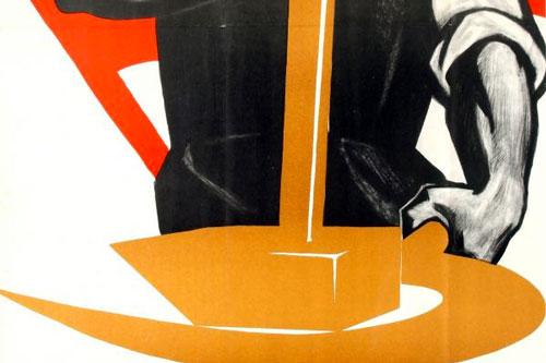 operaio propaganda poster