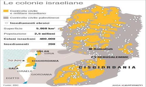 mappa palestina